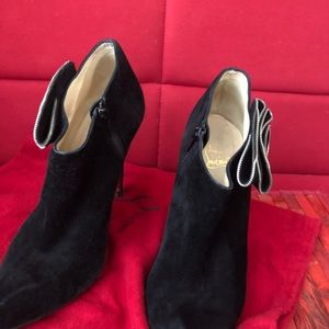 Christian Louboutin black booties